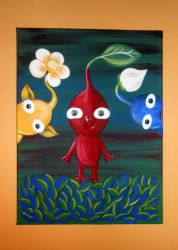 Three little Pikmin by pootoo