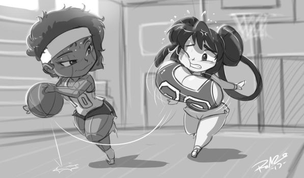 Chibi Connie (NYCTwins) and Grape by ShoNuff44 by greatdragonad