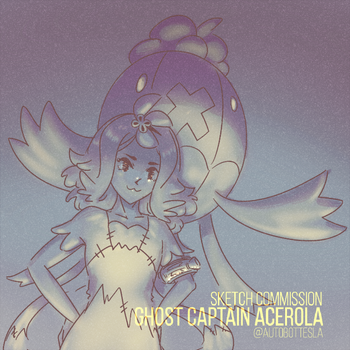 Ghost Captain Acerola Sketch Commission by AutobotTesla