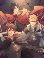 Haikyuu quest garbage boyz by Laulaubi