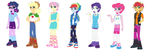 EQG Boys new outfits by Imtailsthefoxfan