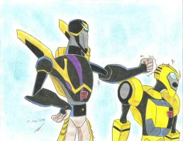 stupid Bumblebee say Prowl Transformers Animated by ailgara
