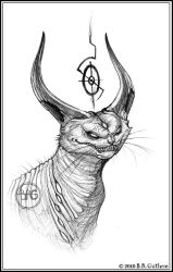 Horned Hell Cat by GuthrieArtwork