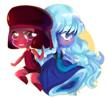 Sapphire and Rudy by RavenMomoka