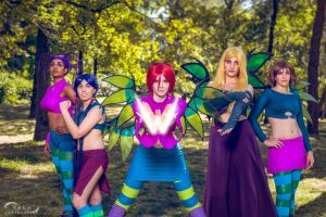 W.I.T.C.H. Group Cosplay by mirella91