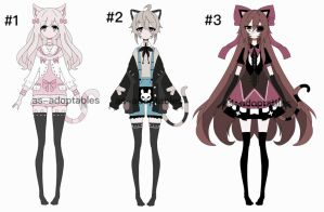 neko adoptables CLOSED by AS-Adoptables