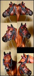 Red fightmore bridle by Afuze