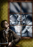 Swine Thing At the Window by Loneanimator