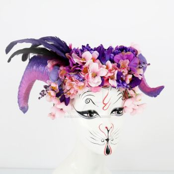 Amethyst Blossom Horned Headdress by ctrlaltvamp