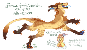 Feral Female Vernid Adoptable by LiLaiRa