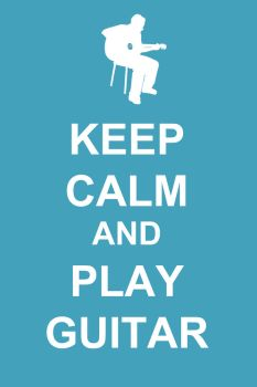 Keep calm and play guitar by Margarita-Mone