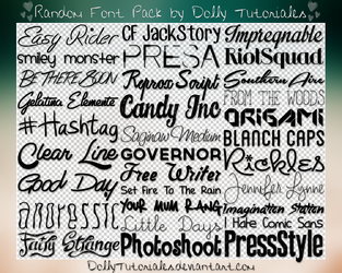 Random Font Pack by Dolly Tutoriales by DollyTutoriales