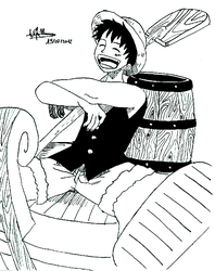 Luffy dans une barque by lilas11
