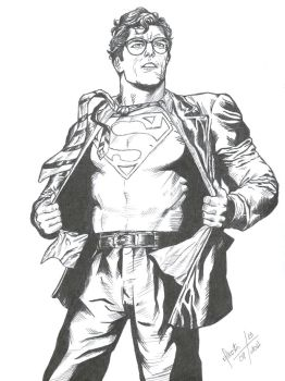This is a job for Superman by Meneguitte