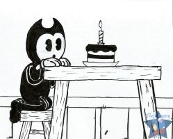 +BaTIM+ Bendy's 1st Birthday (w/o effect) by Metana