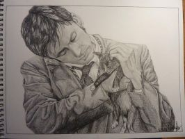 Doctor and kitten by MarieTaylor