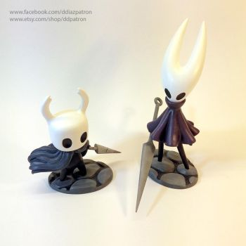 Hornet figure (right) from Hollow Knight game! by ddpatron