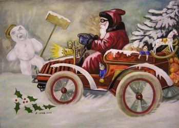 Santa Claus in Auto by raylang
