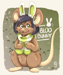 [Art trade] Bloobunny by Mogueta