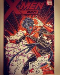 X Men Red Blank Cover Art Night Crawler by draldede