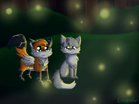 Fireflies by DitzyDolphin