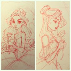 Beauty and the Beast Sketches by ChrissieZullo