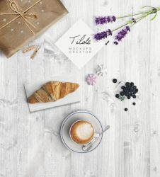 Mockup cappuccino edit free text - download by Matylly