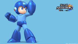 MegaMan 2 |Wallpaper| Super Smash Bros. Wii U/3DS by Gibarrar