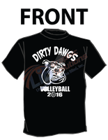 LIB - Dirty Dawgs Volleyball Shirt by simplemanAT