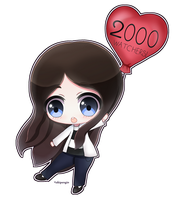 Thank You for 2000 Watchers! by Yukipengin