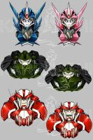 Transformers Charms: Autbots by Karra-shi