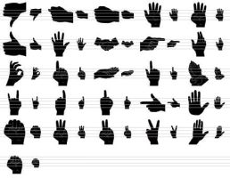 Black Hand Icons by Ikonod