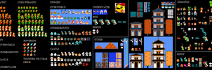 Super Mario bros. sprite Pokemon edition