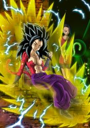 Caulifla SSJ4 and Kale by Maniaxoi