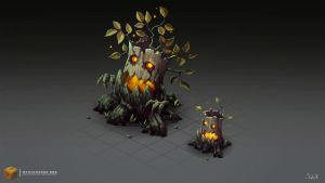 Isometric Evil Trees by Sephiroth-Art