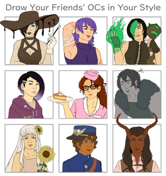 Draw Your Friend's OCs In Your Style by PoppyMori