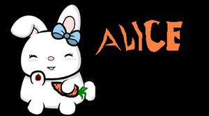 alice the bunny by DragoniaX
