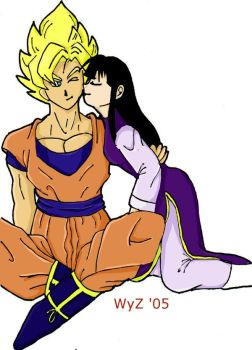 Goku and ChiChi by Wynora