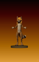 Eryk the blonde dingo. [turnable 3d model] by eryk276