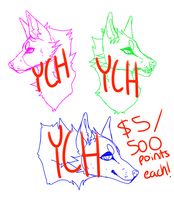 $5 Canine YCHs (2/3 OPEN) by spiderliings