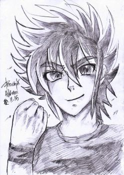 Drawing Seiya by HikariAndDarkNEKO