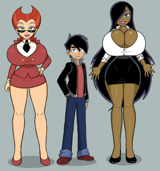 Spectra, Danny and Desiree - Garabatoz by Evil-Count-Proteus