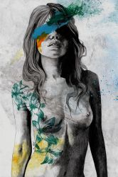 To The Marrow (nude faceless girl in topless) by KissMyArt-Artcore