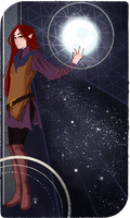 Commission :Tarot Card The Moon by AlexielApril