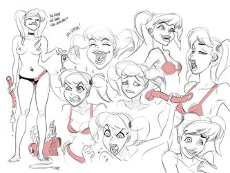 Harley Quinn Expressions by ChaseConley