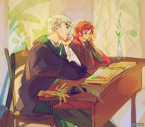 Crushes are harder than herbology by viria13