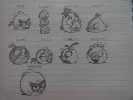 My Angry Birds Drawing by joaoppereiraus