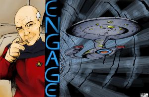 Star Trek - Engage - Color by TheEndofOurLives