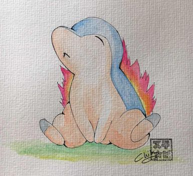Watercolor picture: Cyndaquil by Chibs8D