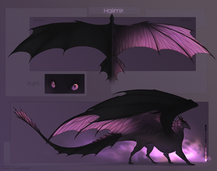Halimir | Reference sheet | Commission by Haskiens
